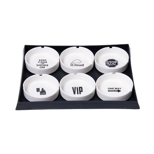 Ceramic Ashtray - 3.9"