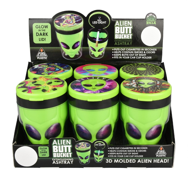 Alien Butt Bucket LED Ashtray - 3"