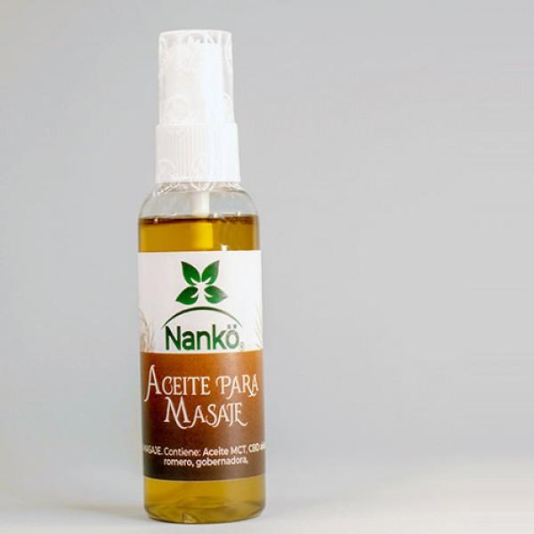 Aceite para masajes con CBD 60ml, de Nankö